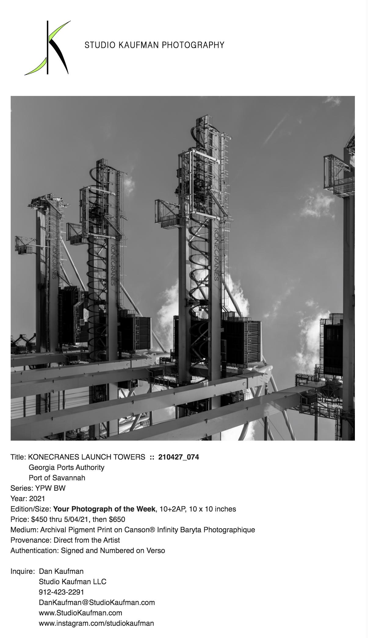 KONECRANES LAUNCH TOWERS by Dan Kaufman, Studio Kaufman